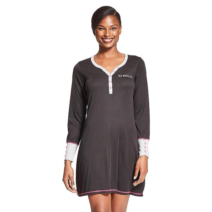 Amazon.com: Bebe - Camisa de dormir de manga larga y corte ...