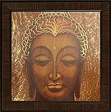 SAF UV Textured Buddha Religious Painting (Set of 1, 35 x 3 x 35 cms)