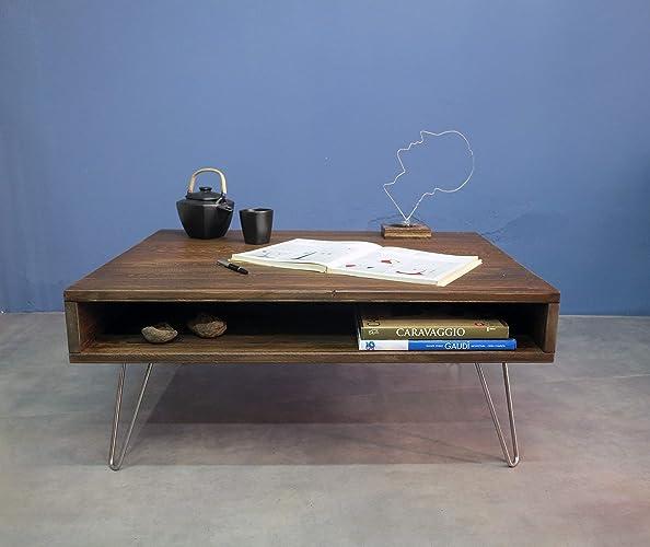 GroBartig Moderne Anpassbare Tisch, Rustikale Kaffeetisch,moderner Couchtisch,  Wohnzimmertisch, Haarnadel Bein