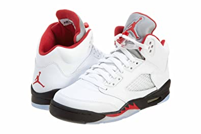 a6513ae60fb6 Air Jordan 5 Retro (GS) 2013 White Fire Red-Black (4Y