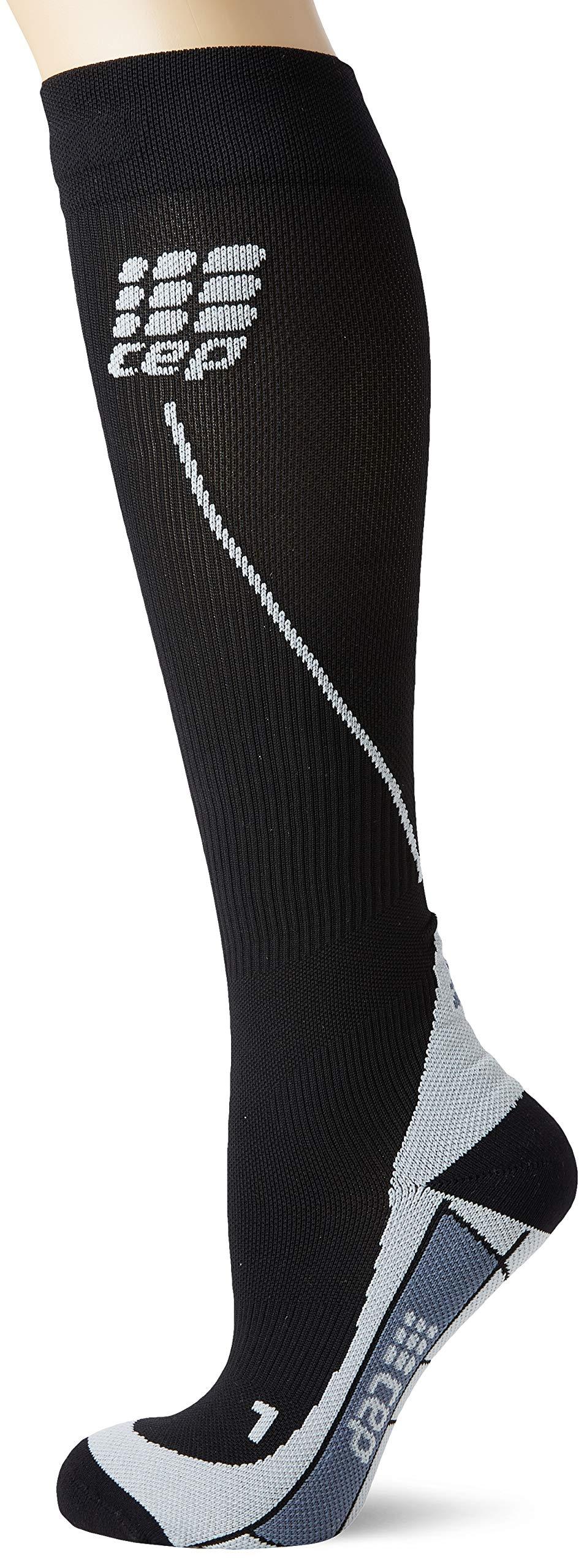 CEP Women's Progressive+ Run Socks 2.0, Black/Grey, 3 by CEP