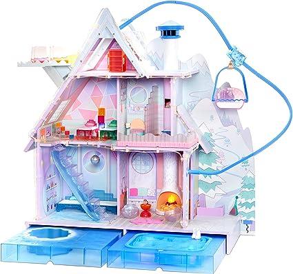 Amazon Com L O L Surprise Winter Disco Chalet Wooden Doll House