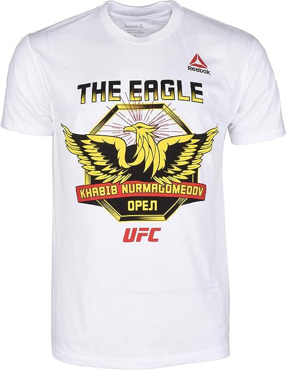 Peave dilema Indiferencia  Amazon.com : Reebok Men's UFC Khabib-Gold Eagle-Short Sleeve Tee : Clothing