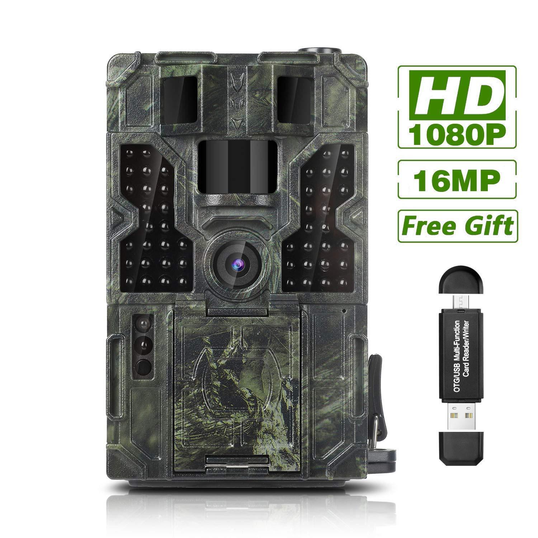 DIGITNOW! Unisex Adult 1 Wildkamera Fotofalle 16MP 1080P HD Jagdkamera Beutekameras, 120° Weitwinkel Vision und Infrarot 20m Nachtsicht, Wasserdichte IP66 Überwachungskamera 40 IR LED, 03, 1