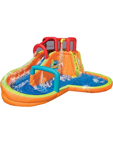 1ad844b4c527c BANZAI Kids Inflatable Outdoor Lazy River Adventure Water Park Slide and  Pool
