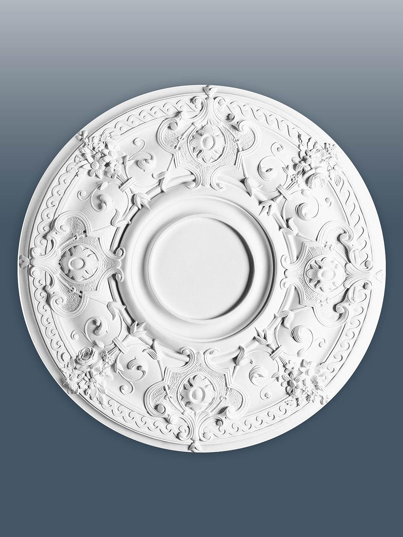 ORAC R38 Ceiling Rose Rosette Medallion Centre decor quality polyurethane classic style white | 71 cm = 27 inch diameter Orac Decor CECOMINOD092185