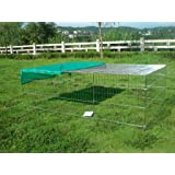"""Bunny Business Rabbit / Guinea Enclosure with Roof Galvanised and Free Sunshade 72"""" large"""