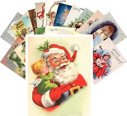 Immagini Cartoline Natale Vintage.24 Cartoline Natalizie Vintage Lingua Italiana Non Garantita Amazon It Cancelleria E Prodotti Per Ufficio