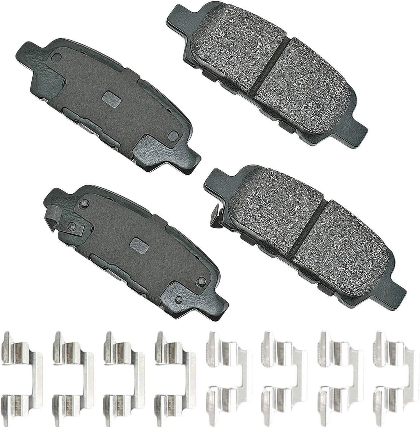 Akebono-ACT905A Ultra-Premium Ceramic Rear Disc Brake Pads