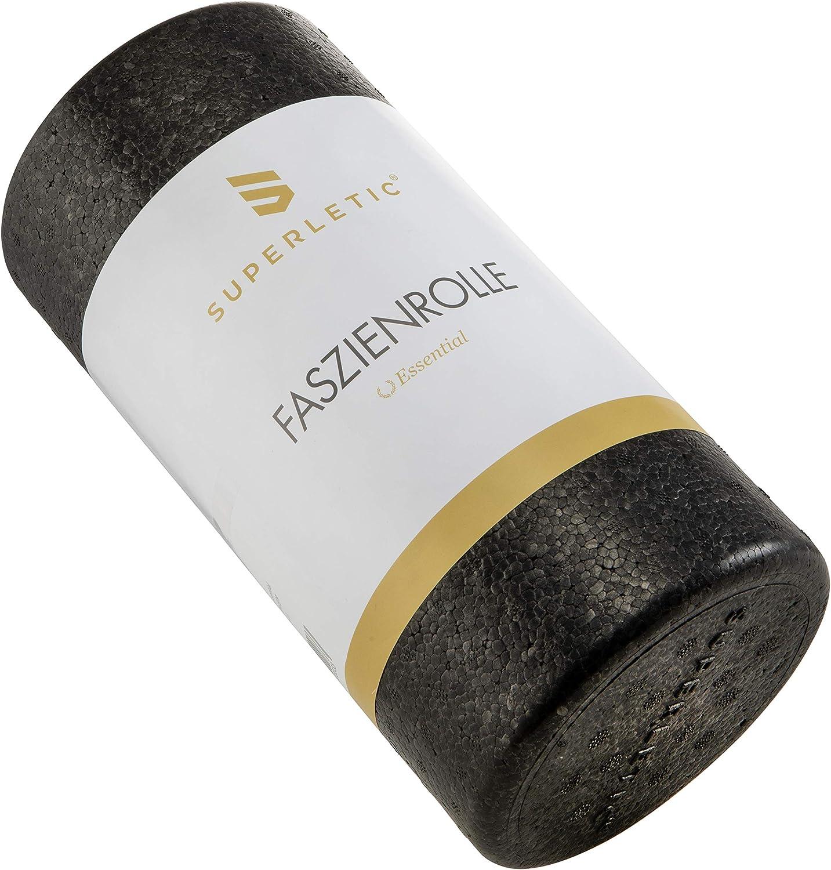 Pilates I nachhaltig SUPERLETIC Faszienrolle Essential I Massagerolle f/ür Faszien Fitness und Workout I Faszien Rolle f/ür Wirbels/äule