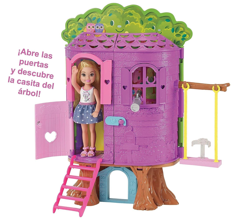 Amazon.es: Barbie Chelsea, casa de muñecas Casita del Árbol, juguete +3 años (Mattel FPF83): Juguetes y juegos