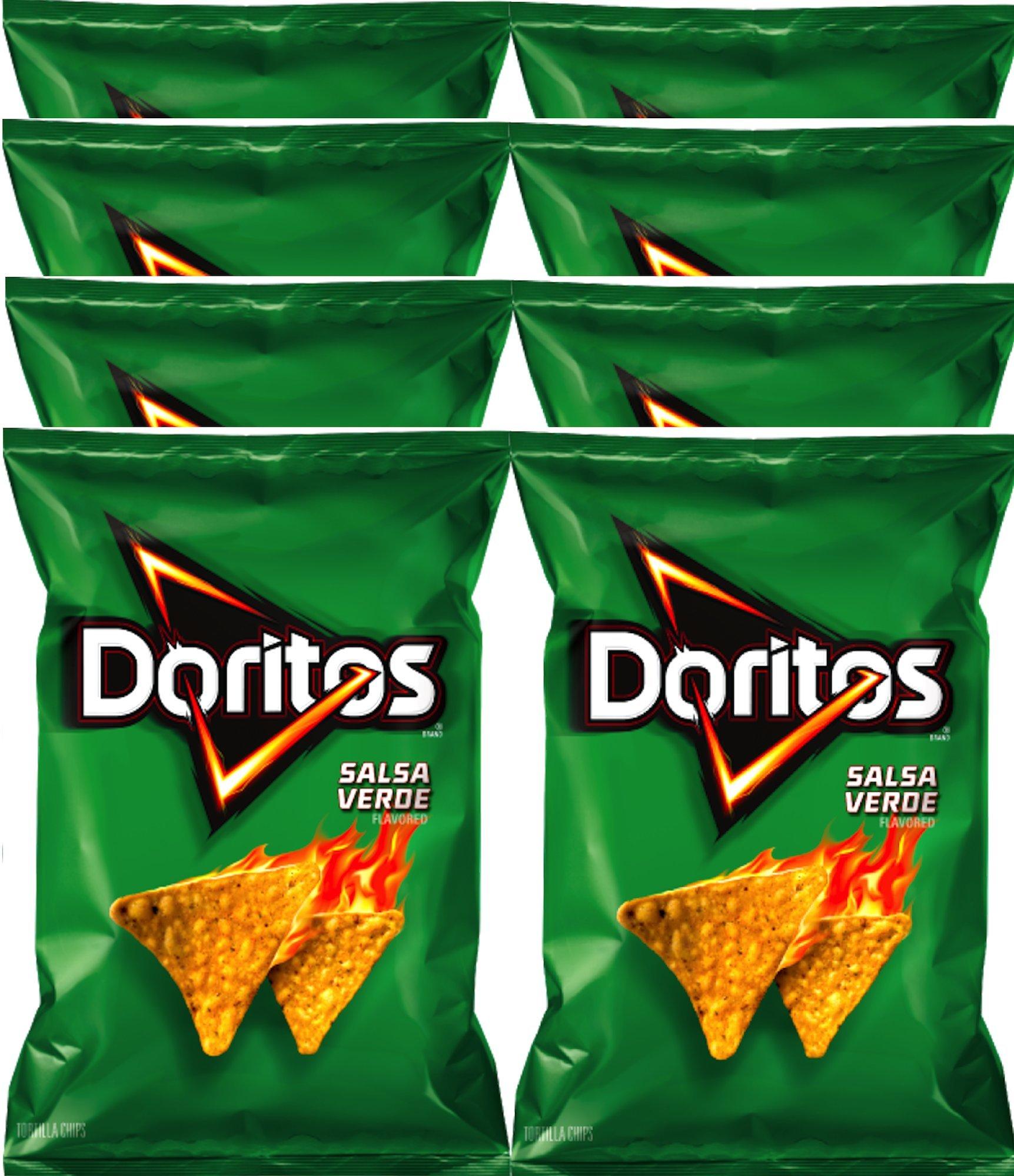 Doritos Salsa Verde Flavored Tortilla Chips 9.75 oz Bags (8) by Doritos