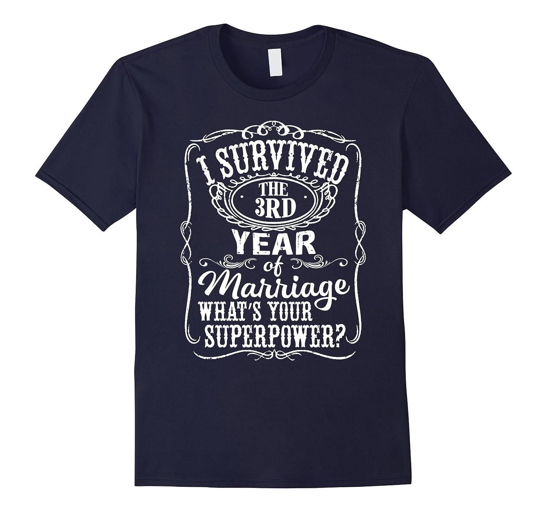 Anniversary Gift 3rd - 3 years Wedding Marriage T-Shirt-Vaci
