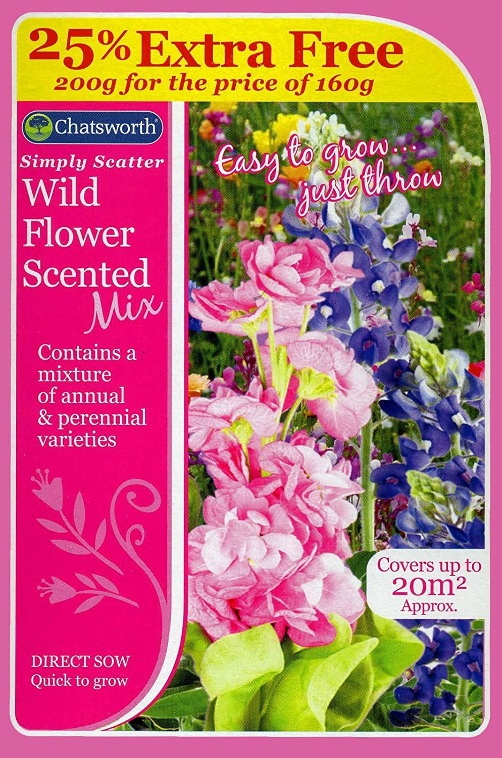 Chatsworth Simply Scatter Wildblumen, duftende Mix 151 Products CH0099