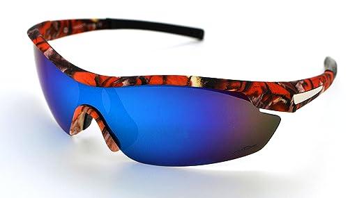 Vertx leggero durevole da uomo e da donna Athletic sport Wrap occhiali da caccia pesca W/free custodia in microfibra White Camo Frame - Smoke Lens 0h3npPe