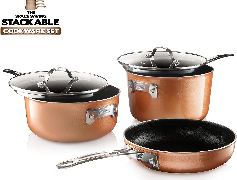 Gotham Steel Stackable, Stackmaster Cookware Set under 50$