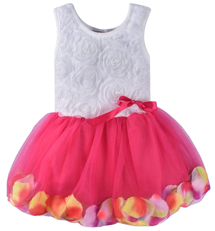 ZOEREA Kids Baby Girls Dress Princess Flower Petal Lace Ruffled Tulle Skirts YS1200-N