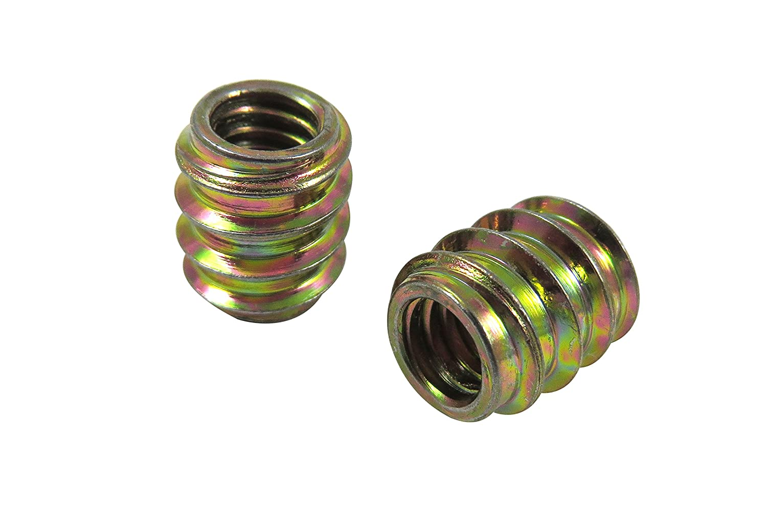 Taytools 468594 25 Pack 5/16-18 Threaded Inserts, Allow Steel, Zinc Plated, 1/2' Pilot Hole, Overall Length 25/64' 1/2 Pilot Hole Overall Length 25/64 Taylor Toolworks