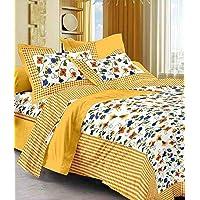 Suraaj Fashion 100% Cotton rajasthani jaipuri sanganeri traditional king size double bed sheet with 2 Pillow Covers