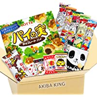 Pie no Mi chocolate & Japanese snack DAGASHI set with AKIBA KING sticker
