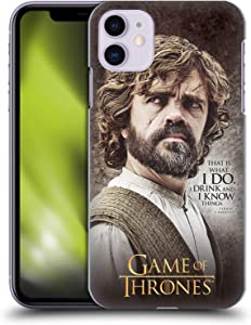 Head Case Designs Officially Licensed HBO Game of Thrones Tyrion Lannister Quotes Hard Back Case Compatible with Apple iPhone 11
