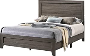 Best Quality Furniture California King Bed Only, Gray