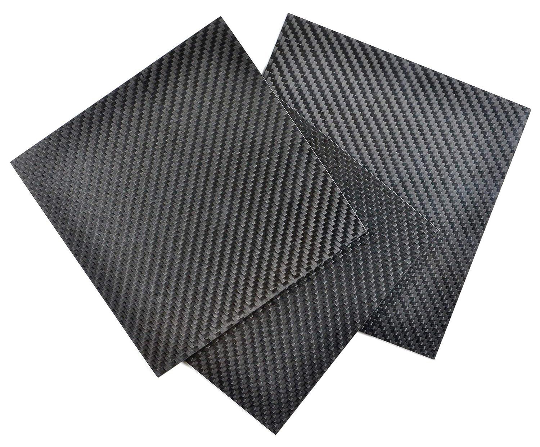 """Carbonblack Composites Carbon Fiber Sheet 5""""x 5"""" (3): Amazon.in: Home &  Kitchen"""