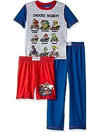 7673d8d83a Super Mario Boys 3 Piece Jersey Pajama Set