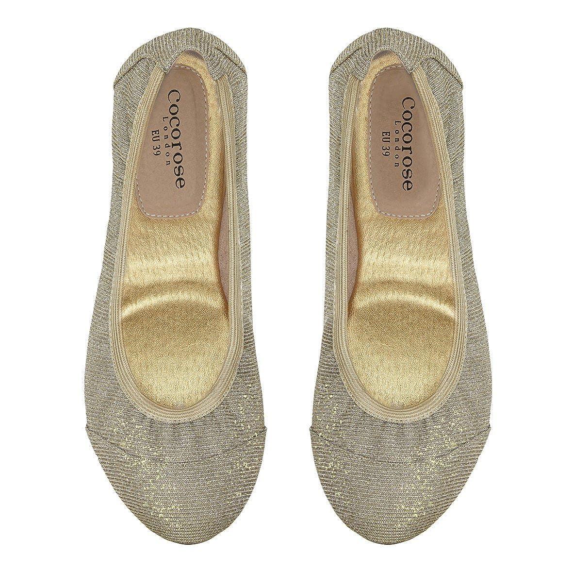 Cocorose Foldable Schuhes Barbican Ladies Ballet  Pumps    Ballet  ... a98033