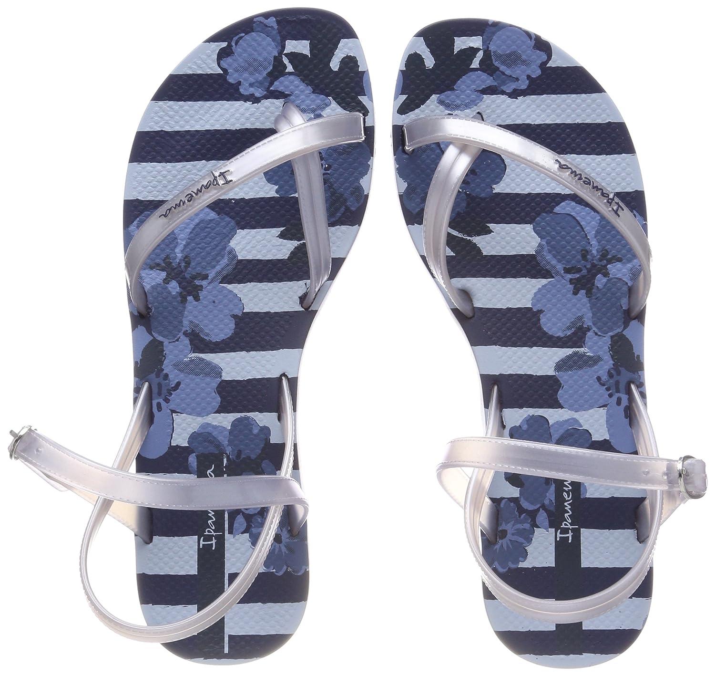 Ipanema Damen Fashion Sand V Fem Zehentrenner  38 EU|Mehrfarbig (Blue/Silver)