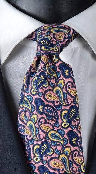 Graffeo Cravatte Corbata de hombre con estampado de siete pliegues ...