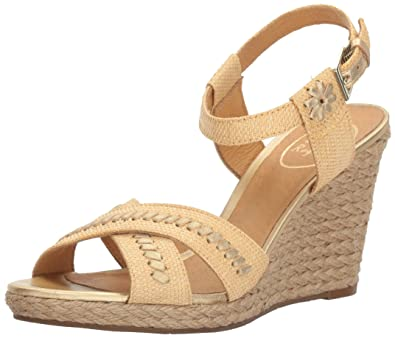 9246e3235a56 Jack Rogers Women s Abbey Wedge Sandal