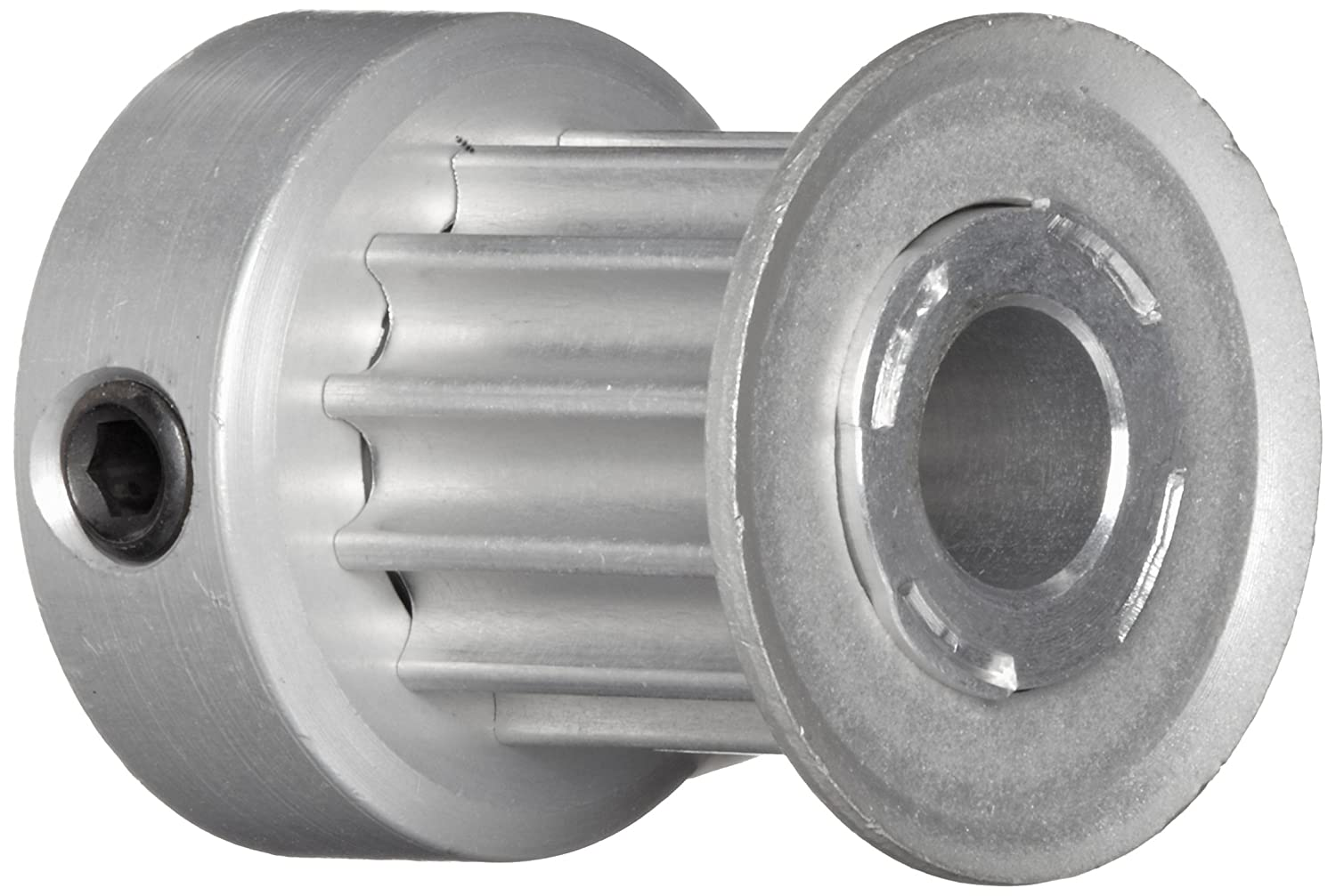 Boston Gear PA3016DF090 Timing Pulley for 9mm Wide Belts 16 Groves 0.188 Bore Diameter 0.572 Outside Diameter 0.688 Overall Length Aluminum