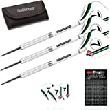 Red Dragon Falcon-GT: Tungsten Steel Darts with Flights, Shafts & Wallet & Red Dragon Checkout Card