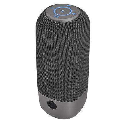 NGS Roller Rocket – Altavoz inalámbrico portátil Compatible con Tecnología Bluetooth-TF. (CARD –USB-FM Radio-IPX4). Color Gris