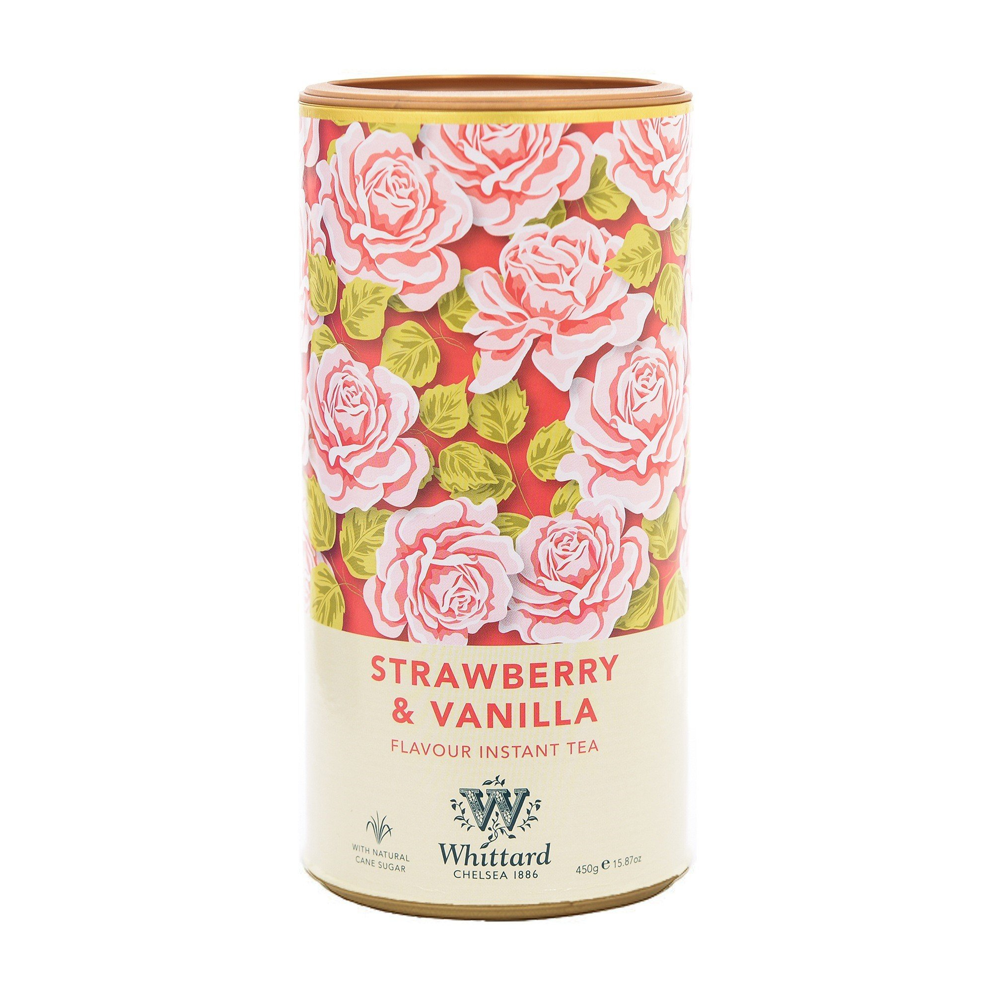 Whittard Strawberry & Vanilla Flavour Instant Tea 450g (Pack of 2)