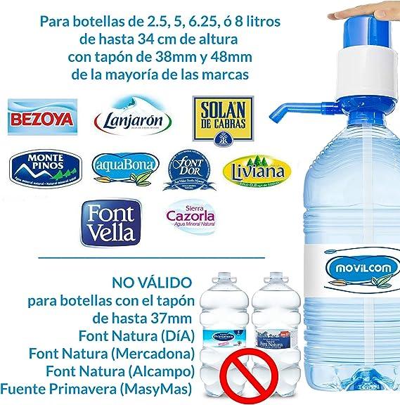 MovilCom® - Dispensador Agua para garrafas | Dosificador Agua garrafas Compatible con garrafas de 5, 10 y 20 litros