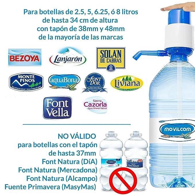 MovilCom® - Dispensador Agua para garrafas   Dosificador Agua garrafas Compatible con garrafas de 5, 10 y 20 litros