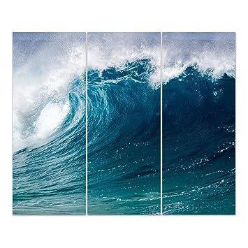 Dekoglas Glasbild Die Welle Echtglas Bild Kuche Wandbild Flur