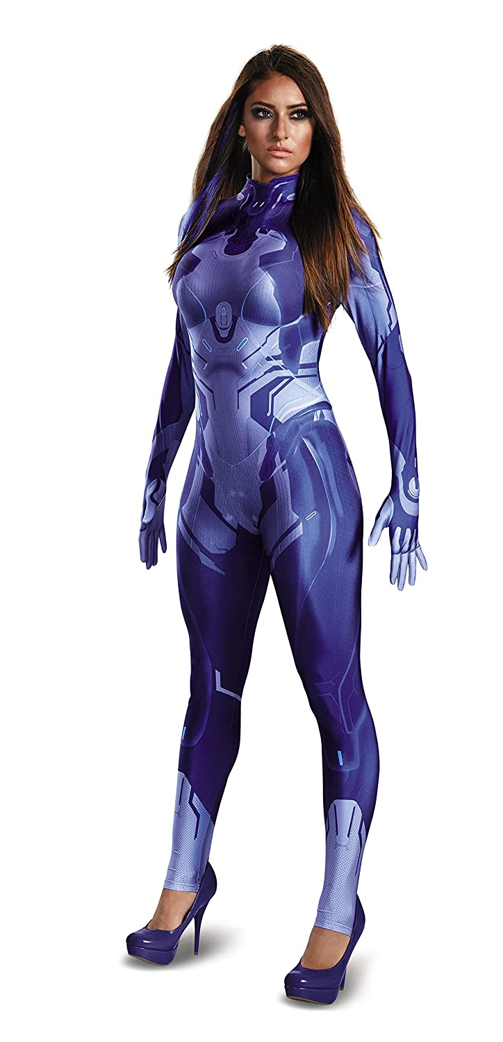 Halo Cortana Damenschuhe Bodysuit Fancy dress costume Small
