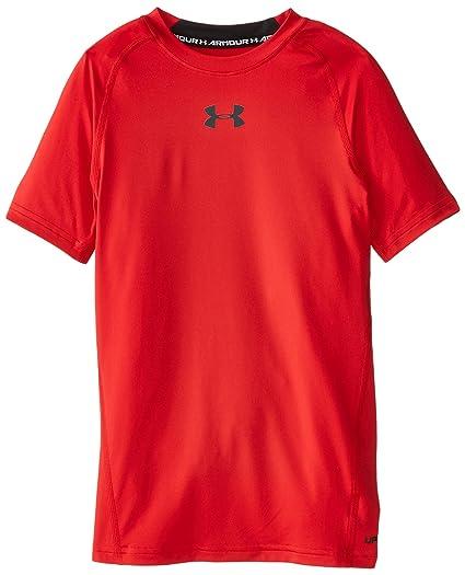 290c4cd801 Buy Under Armour Boys' HeatGear Armour Short Sleeve Fitted Shirt ...