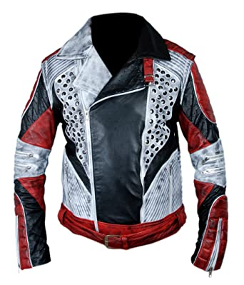 F&H Boys Genuine Leather Carlos Descendants 2 Jacket with Removable Arms XXS Multi
