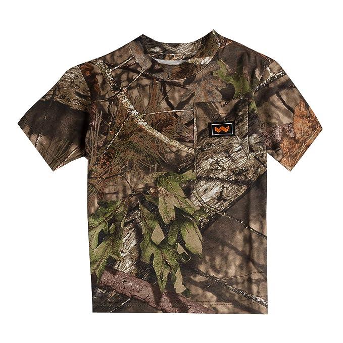 b971e379 Walls Boy's Hunting Short Sleeve Pocket T-Shirt, Mossy Oak Breakup Country,  ...