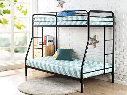 Amazon Com Zinus Quick Lock Metal Bunk Bed Narrow Twin Cot Size 30