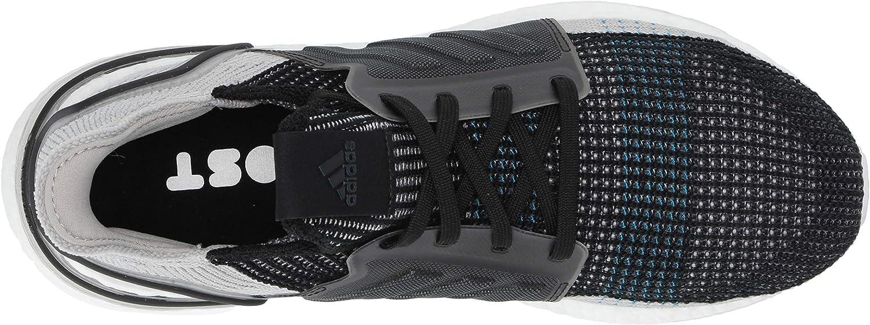 adidas Ultraboost 19, Chaussure de Course Homme Noir Gris Cyan