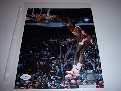 e3476f076 Autographed Dominique Wilkins Picture - coa 8x10 Glossy - JSA Certified -  Autographed NBA Photos