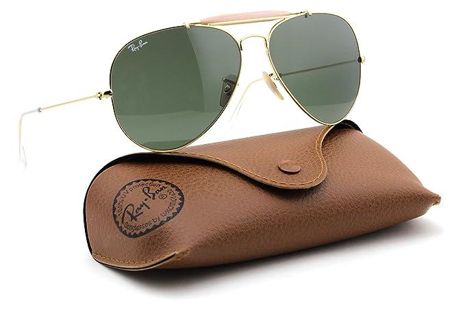 eb5cf9dc24 Amazon.com  Ray-Ban RB3029 L2112 OUTDOORSMAN Gold Frame   Green Lens 62mm   Clothing