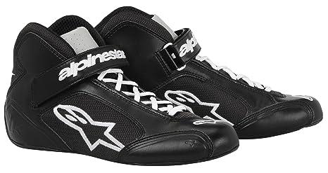Alpinestars 2712013-12 Zapatos de Kart, Color Negro/Blanco, Talla 7