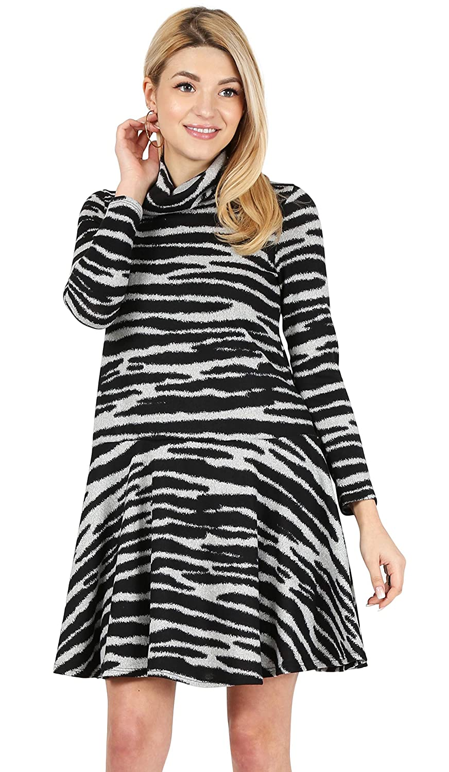 e86b356dee3 Womens Long Sleeve Winter Cowl Neck Sweater Dress Reg and Plus Size- Made  in USA at Amazon Women s Clothing store