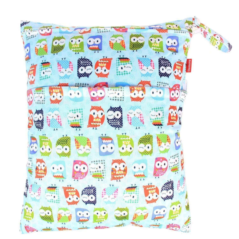 2-Zip Washable Baby Cloth Diaper Nappy Bag